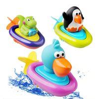 el barco impermeable a estrenar del agua de la nadada del juguete del bao del beb juega a los nios los barcos de dino de la heridapara arriba que