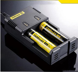nitecore intellicharger i2 battery charger Canada - Nitecore I2 Battery Charger Universal Charger for 16340 18650 14500 17500 26650 Battery E Cigarette 2 in 1 Multi Function Intellicharger