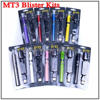 Wholesale E Cig Mix - New Blister EVOD MT3 Atomizer Electronic Cigarette e Cigarette E Cig Kits 650mah 900mah 1100mah Battery Various colors mixed order available