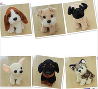 Wholesale Stuffed Toy For Pet - EMS free, Clildren' Partner Plush dog doll toy Stuffed Nobility pet dog cute pet dogs for baby Super gift for Kids Lovely Llarge Size 19cm