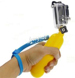 Wholesale Hot Underwater Diving GoPro Bobber Floating Handheld Hand Grip Stick Floaty Grip flotage Stabilizer Monopod for Camera Go pro Hero 3+ 3 2 1