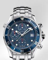 erkekler marka saatler toptan satış-Erkek üst Marka Kuvars chronograph saatler çelik kasa band bilek İzle OM02