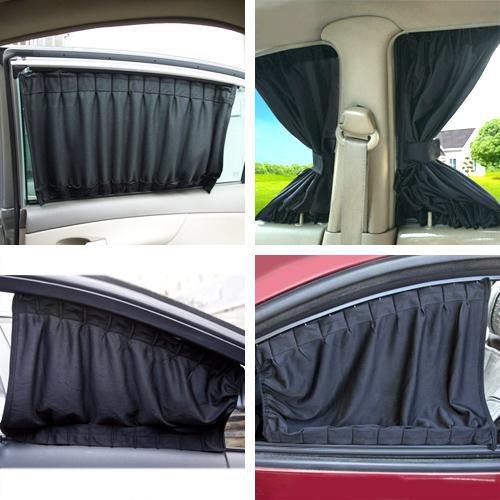Aluminum Rail Car Curtains Upgraded Uv Protection Side Window