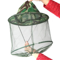Wholesale Camping Foldable Buckets - Foldable Outdoor Camouflage Field Jungle Fishing Bucket Hat Mask Cap Mosquito Bee Insect Hiking Camping H10344