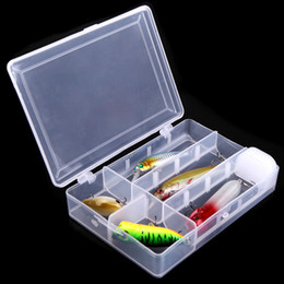Wholesale Hard Pencil Boxes - Artificial Fishing Lure Hard Bait Minnow Pencil Crank Popper with Hook Plastic Fishing Tackle Lures Box H10470