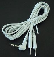 pin ömrü toptan satış-20 ADET Elektrot Kurşun Teller ONLARCA MAKINESI Bağlantı ERKEK FIŞ 2.5mm Jack REUSABLE 2.0mm Pin Tak Masaj Makinesi Için UZUN ÖMRÜ