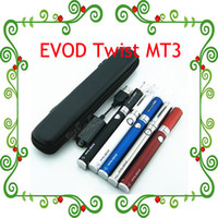 Wholesale Ego Twist Starter Kit Zipper - 2015 Hot !EVOD Twist eGo-C Twist MT3 Starter Kit Electronic Cigarette with Mini Zipper Case 650mah 900mah 1100mah 3.2-4.8V