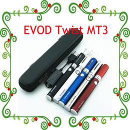 Wholesale Ego C Case Kit - 2015 Hot !EVOD Twist eGo-C Twist MT3 Starter Kit Electronic Cigarette with Mini Zipper Case 650mah 900mah 1100mah 3.2-4.8V