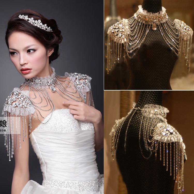 2018 The Bride Wedding Dress Shoulder Strap Rhinestone Crystal ...
