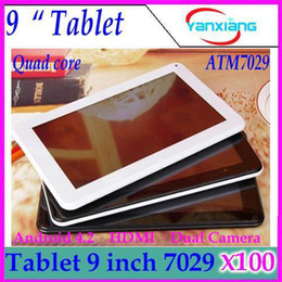 """Wholesale Dual Nand - DHL 100PCS 9"""" Quad Core CPU Android 4.2 512MB 8GB NAND Flash Action ATM7029 WIFI Dual Cameras HDMI 9 inch android tablet hdmi ZY-MID-25"""