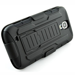 Wholesale Holster S4 - For Samsung Galaxy S4 Future Armor Impact Hybrid Hard Case Cover + Belt Clip Holster Kickstand Combo Rubber Stand IV I9500