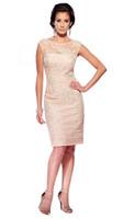 Wholesale Simple Elegant Dresses Woman - Hot ! New 2015 Mother Of The Bride Dresses Knee-Length 2015 Formal Dress Elegant Lace Appliques Evening Dress Women Mother's Dresses