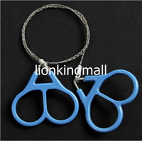 Wholesale Emergency Ring - SKU667 Third generation Plastic Ring Steel Double Finger Wire Saw Scroll Saw Emergency Outdoor Hunting Camping Hiking Rescue Survival Tool