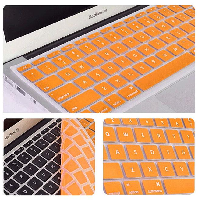 Colorful Laptop Soft Silicone KeyBoard Case Protector Cover Skin For MacBook 11 12 13 15 Touch Bar Waterproof Dustproof