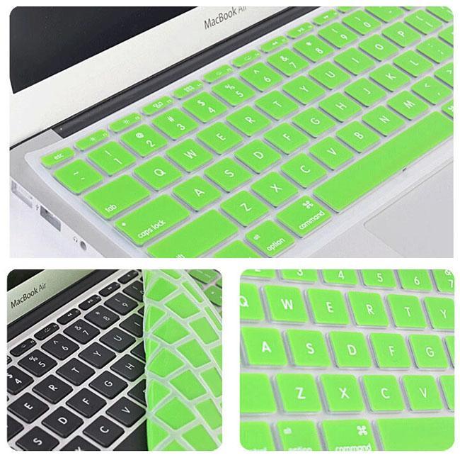 Bunte laptop weichen silikon tastatur case schutzfolie haut für macbook 11 12 13 15 touch bar wasserdicht staubdicht papier paket