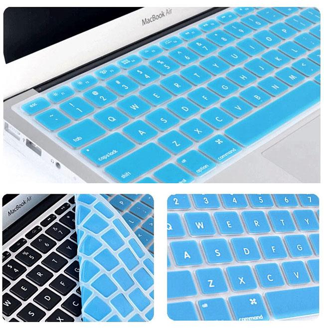 カラフルなラップトップの柔らかいシリコーンのキーボードの保護具はMacBook 11 12 13 15のタッチバーの防水防塵