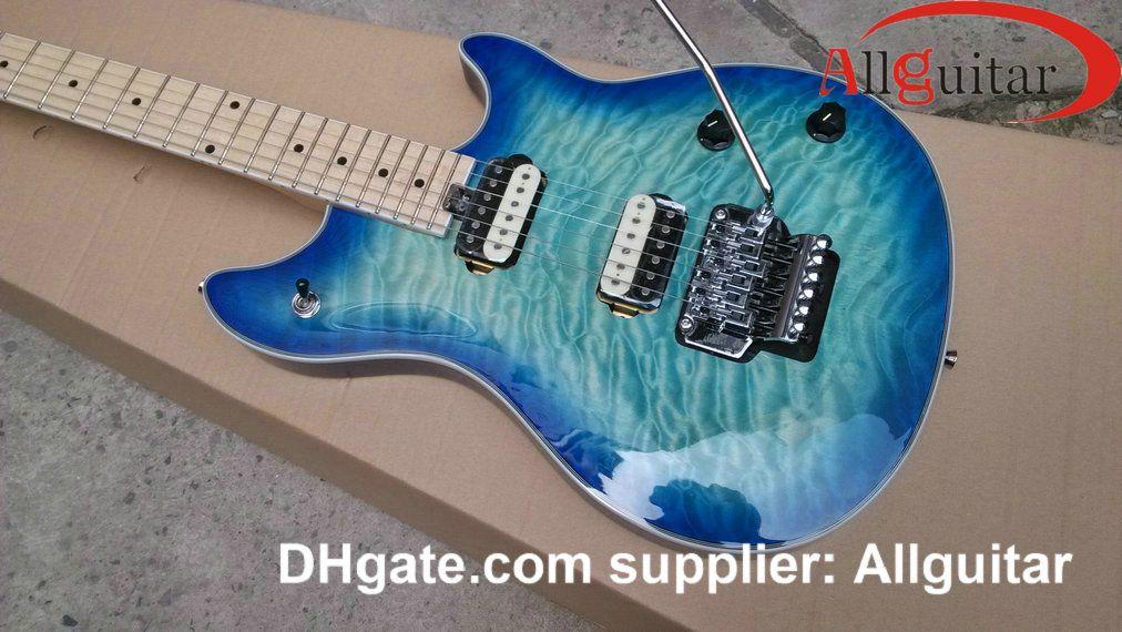 Wolf Guitar Edward VanHalen Blue Burst Electric Guitar