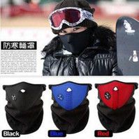 Wholesale New Bicycle Winter Ski snow neck warmer face mask helmet for Skate Bike Motorcycle Cycling Caps Masks