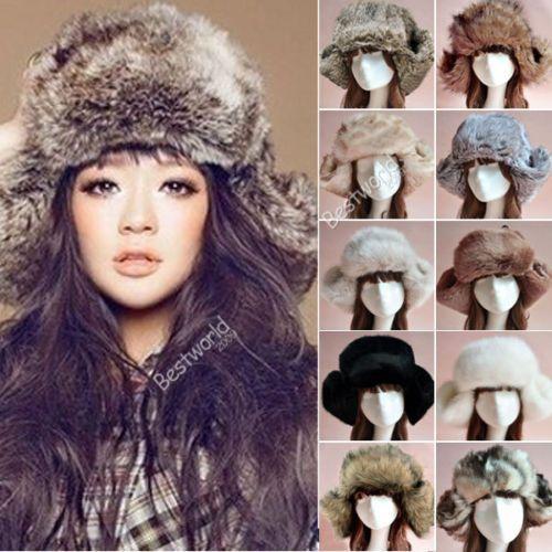 f5476a541b7 2019 2014 New Fashion Style Ladies Women Mens Russian Cossack Style Faux Fur  Winter Warm Ushanka Trapper Hat From Qq2250960206
