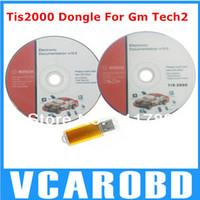 2014 Top-Rated TIS2000 GM Tech2 TIS 2000 CD de software y dongle USB TIS2000 USB KEY utilizado en gm tech2 escáner de Yoga yu