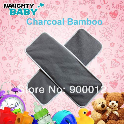 Printed Bamboo Baby Cloth Diaper 4 layers2+2 Bamboo charcoal inserts