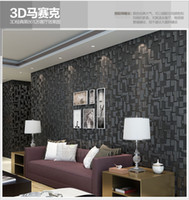 Wholesale Nursery Leather - Contemporary Environmental 3D TV setting wall leather flocking living room bedroom wallpaper papel de parede papier peint