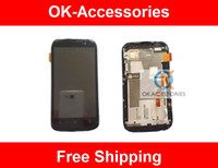 Wholesale T328e Desire X - LCD Display +Touch Screen With Frame Digitizer For HTC Desire X T328e 1pcs lot Free Shipping