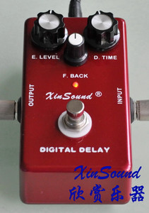 Guitar Delay Effects Pedals 400ms Delay Time DL-40 by XinSound