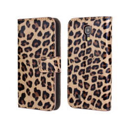 Wholesale Galaxy S4 Classic - High Quality Classic Leopard Print Folio Pu Leather Wallet Case with Cover for Samsung Galaxy S4 Mini i9190 Hot Sales Free