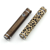 Wholesale E Cig Leopard - Luxury:Mage Mod Leather Cover Leopard battery e cig mage mod Variable voltage mechanical mod Mage battery body fit 18650 battery DHL free