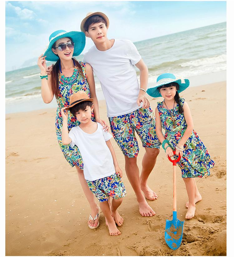 Sg627 Family Look Family Matching Clothes For Mother And Daughter Father And Son Summer Cotton ...