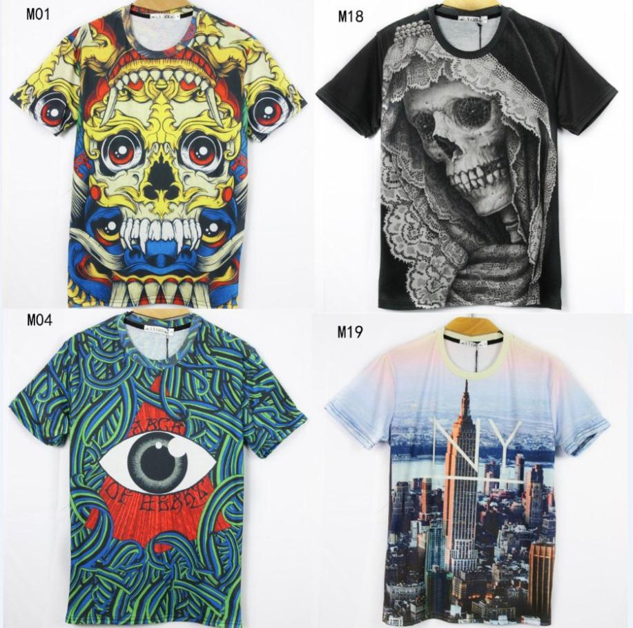 Newest Style 3d T Shirts Tshirt Men High Quality Cartoonbuilding