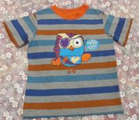 Wholesale Hoot Shirts - 2016 Promotions Giggle and Hoot Giggle & Hoot Pirate Fashion boy boys short sleeve orange grey stripe top t shirt top 8pcs lot