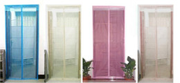 New Arrive Mosquito curtain quality screen door magnetic buckle magnetic stripe screen door window summer jacquard stripe Sheer Curtains
