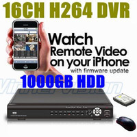 Wholesale-16 Chs CCTV Digital Video Recorder DVR mit 1000GB HDD H264 CMS Wirtschaftsförderung Internet und Mobil Remote View