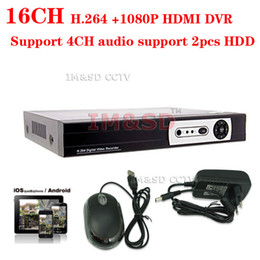Wholesale Stand Dvr 16 - Wholesale-H.264 16CH cctv Realtime Stand alone DVR recorder Support 4CH audio support 1080P HDMI 16 channel DVR