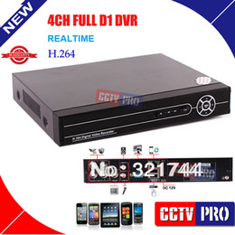 Wholesale Stand Dvr Full - Wholesale-CCTV stand alone 4ch FULL D1 dvr 4 channel Network Audio Mobile 4CH DVR Digital Recorder for camera syst Surveillance Video
