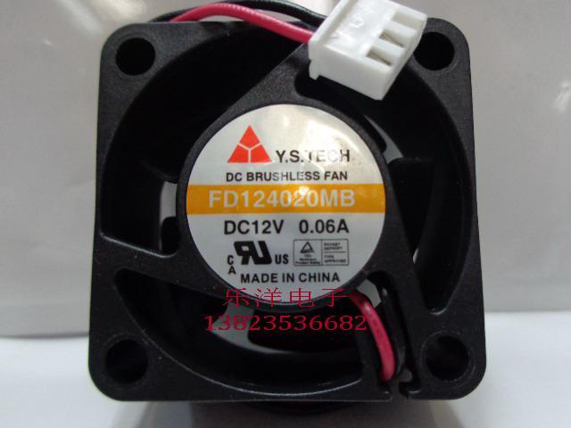 Nouveau ventilateur de refroidissement d'origine Y.S.TECH FD124020MB 12V 0.06A 5600RPM 40 * 20MM 4cm