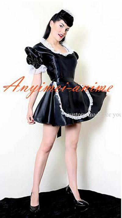 New arrival plus women sexy late nite french maid black for Dreamhome com