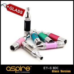 Оригинал Aspire ET S BVC Glassomizer электронная сигарета атомайзер эго нить Нижняя вертикальная катушка 3 мл Pyrex стекло ET-s стекло атомайзер от