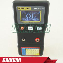 Medidor de circuito online-Actualice el MESR-100 Condensador de ESR de rango automático / Ohmio bajo 100 KHz Medidor de capacitores del probador de circuito Hasta 0.01 a 100 R