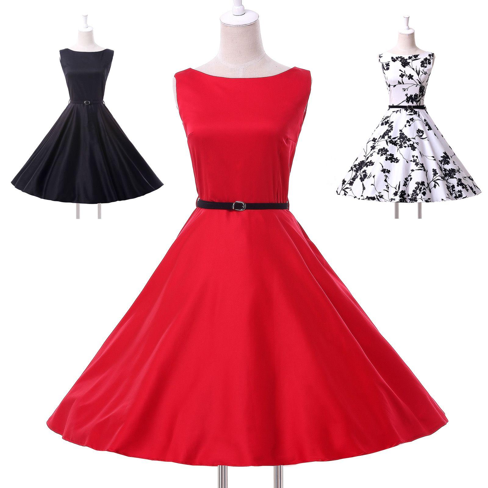 New Arrival Polka Dot Rockabilly Vintage Swing Work Evening Dress ...