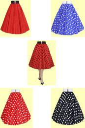 Wholesale Swing Skirt Petticoat - Free shipping Retro 50s Underskirt Swing Vintage Petticoat R1108 Lady Polka Dot Fitted rockabilly Dress petticoat skirt
