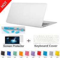 Wholesale Macbook Cover Sleeve - Wholesale*Free Shipping Matte Case for macbook Keyboard Cover+Screen Protector
