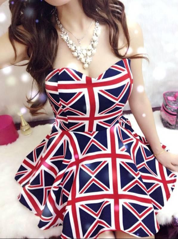 2019 Union Jack Dress Women Ladies Fashion Sexy Sleeveless