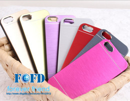 Wholesale Iphone 4s Proof Case - New Arrivals Brushed Metal Cellphone Cases MOTOMO Hard Protector Dust Proof Scratch Proof For iphone 4 4S 5 5S Free