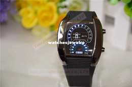 Wholesale Led Car Watch - Wholesale-New arrive fashion LED fan-shaped sports watches, car dashboard personality creative men watch military watches