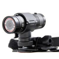 Wholesale Outdoor Sport Helmet Action Camera - Aluminum Mini F9 5MP HD 1080P H.264 Waterproof Sports DV Action Video Camera Camcorder Car DVR Outdoor Bike Helmet AT-F9 76g D1226