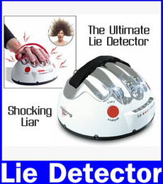 Wholesale Lie Detectors - Free Shipping 1Piece Polygraph Shocking Liar Electric Shock Lie Detector Truth Game new original free shipping