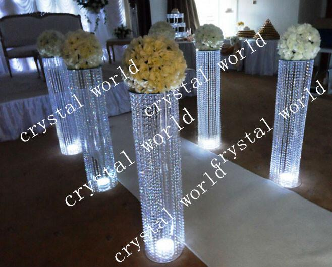 Luxury tall centerpiece stands wholesale wedding metal